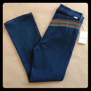NWT MOTHER Smooth Hustler Rainbow High Jeans sz 30